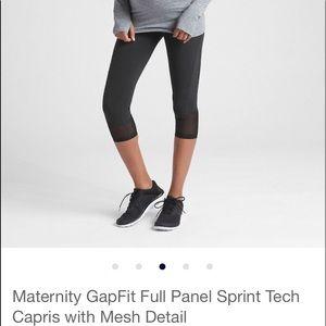 Maternity GapFit Full Panel Sprint Capris